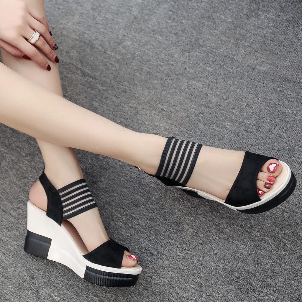HTB1lqJeaE rK1Rjy0Fcq6zEvVXai new fashion Wedge women Shoes Casual Belt Buckle High Heel Shoes Fish Mouth Sandals 2019 luxury sandal women buty damskie
