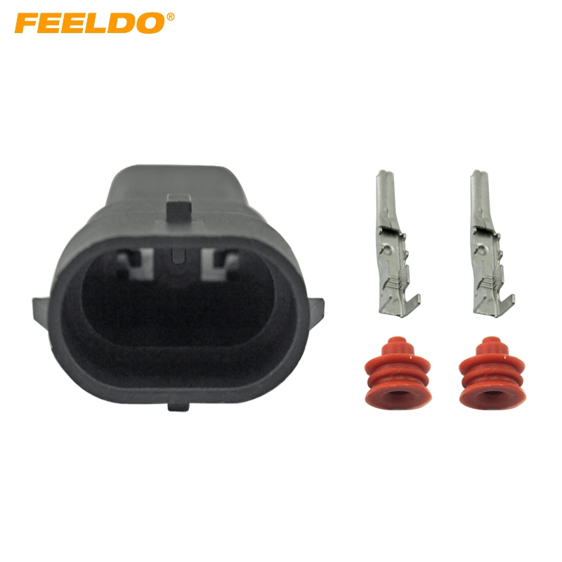 FEELDO 1set Car Male HID Headlight Bulb Socket Connectors For H8/H9/H11/880/881 LED/HID Lights #CA1866FEELDO 1set Car Male HID Headlight Bulb Socket Connectors For H8/H9/H11/880/881 LED/HID Lights #CA1866
