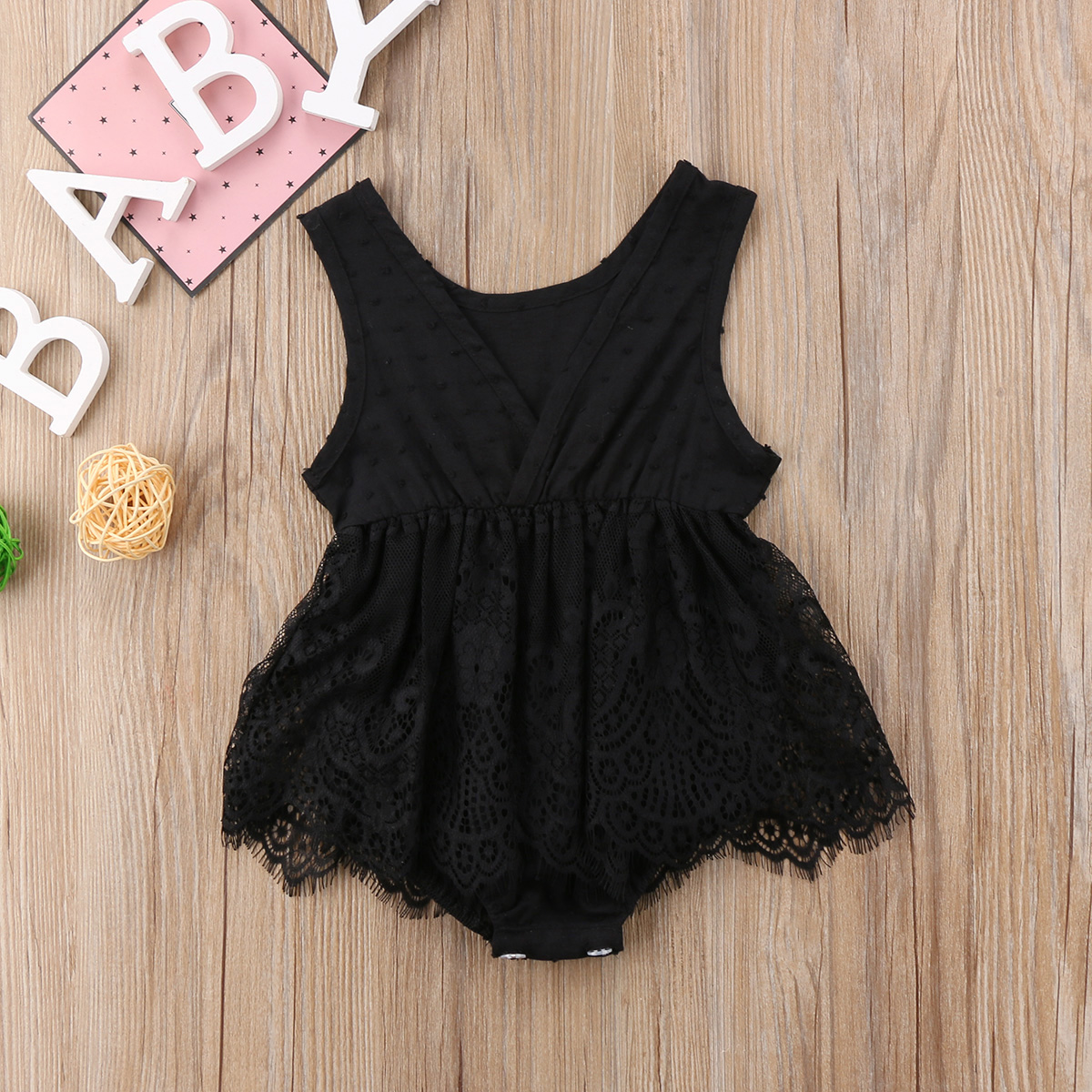 4c9f089e990b Newborn Infant Baby Girls Clothing Tops Lace Romper Sleeveless Cute Ruffles  Jumpsuit Outfits Clothes Baby Girl 0-18M
