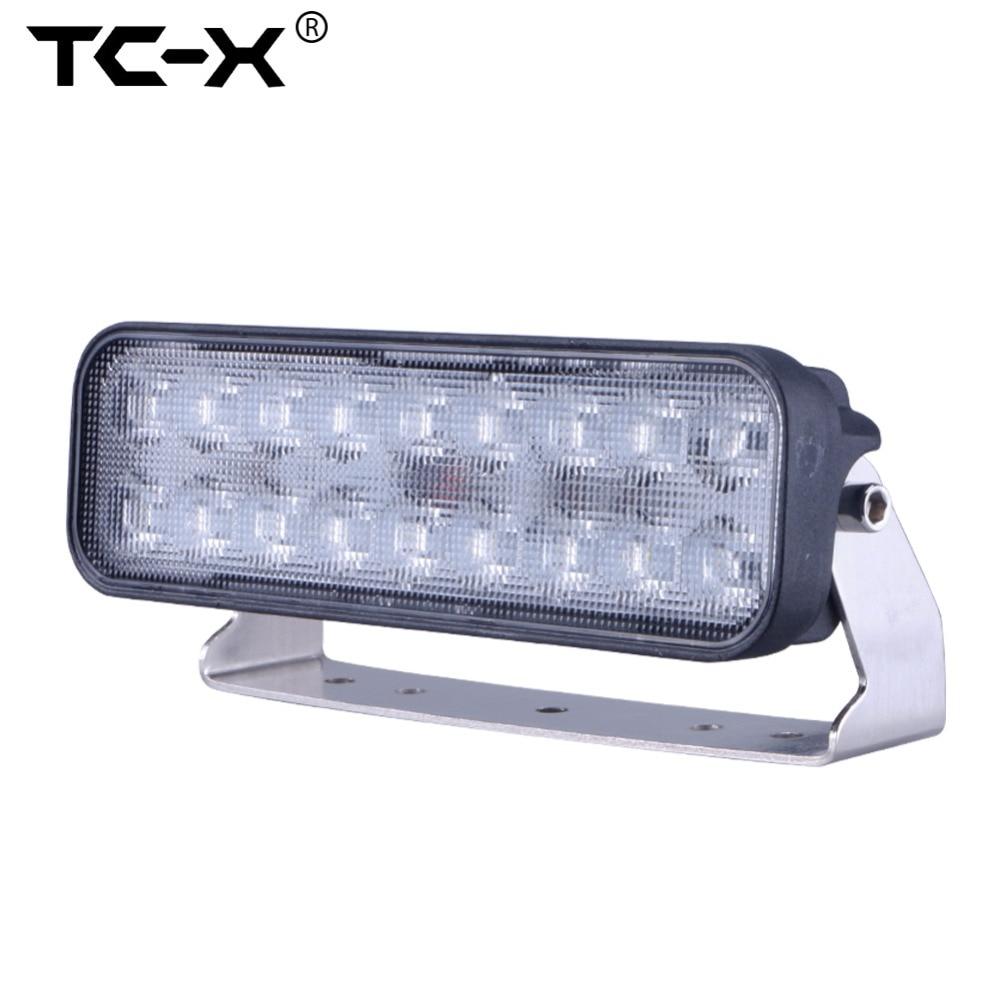 Prix pour TC-X 9 Pouce 54 W LED Light Bar Ultra Projecteurs pour Camion remorque Hors Route Éclairage 4WD ATV UTV SUV LED Lumière de Travail lampe
