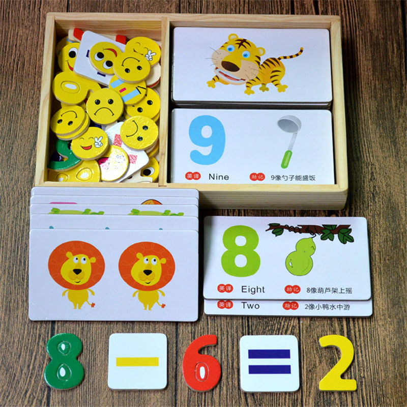 New Early Education Baby Kids Preschool Learning Chinese Number Cards With Picture ,Chinese Book With English  0-6 Age