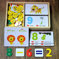 New Early Education Baby Kids Preschool Learning Chinese Number Cards with picture ,Chinese book with English 0 6 age