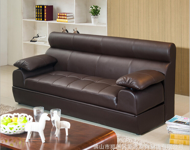 high quality  European living room multifunction leather sofa 4989