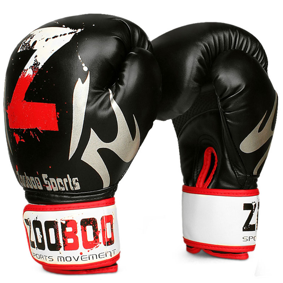 ZOOBOO 1 Pair MMA Muay Thai Boxing Gloves Sanda Kungfu Wushu Fighting Sandbag Training Professional Boxing Gloves Sport Safety