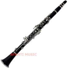 Afanti Music Falling Tune B / Hard Rubber / Nickel button Clarinet  (CLA-106)