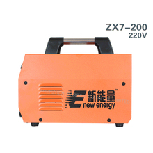 Envío libre de DHL 1 unid Digital DC ARC Máquina de Soldadura Del Inversor MMA Soldador zx7-200 del Soldador 220 V Todo núcleo de cobre portátil actualización