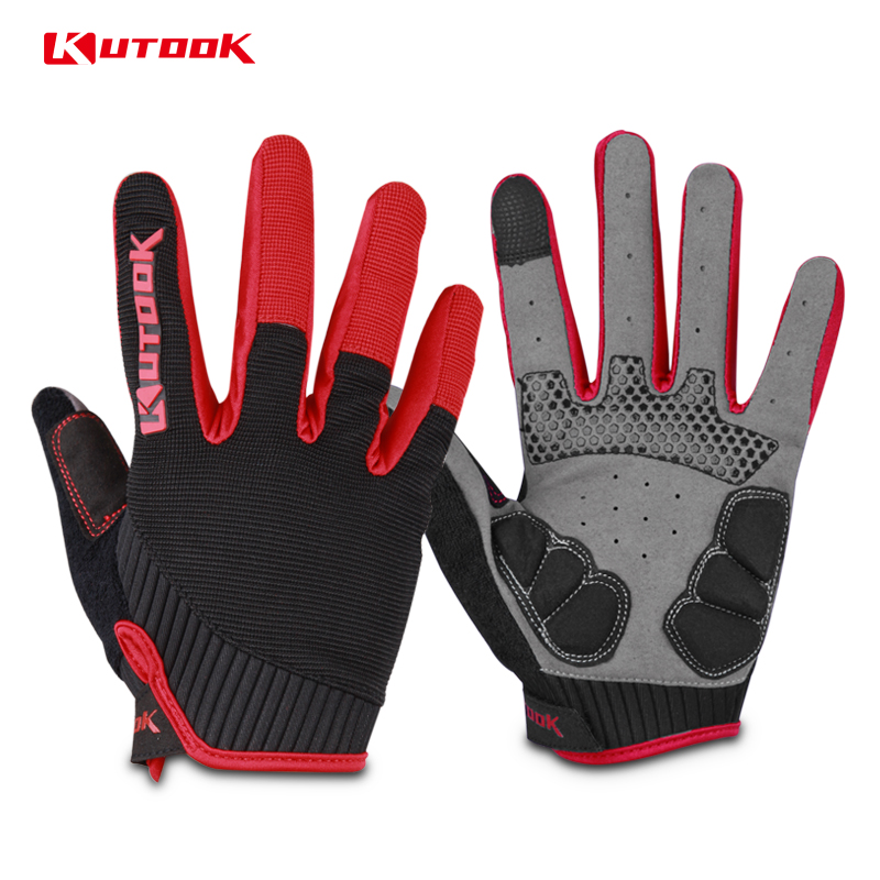 Workout Gloves Full Finger: KUTOOK Touch Screen Shockproof Weightlifting Gloves