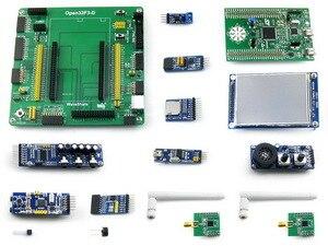 Open32f3-d Вышивка Крестом Пакет B = ST официальный stm32f3discovery stm32f303vct6 ARM Cortex-M4 STM32 развитию + 3.2 сенсорный ЖК-дисплей + 12 Модули