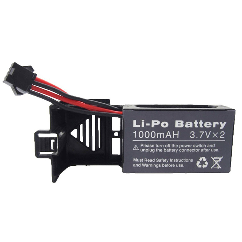 1Pcs 3.7v 1000mah Battery and 1 to 3 USB Charger for Udi U842 U818S U842-1 Rc Quadcopter Drone Black Spare Parts Batteries