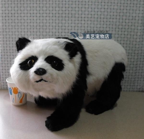 ФОТО simulation panda model,polyethylene&fur 38x15x24cm large panda handicraft toy props home decoration Xmas gift b3869