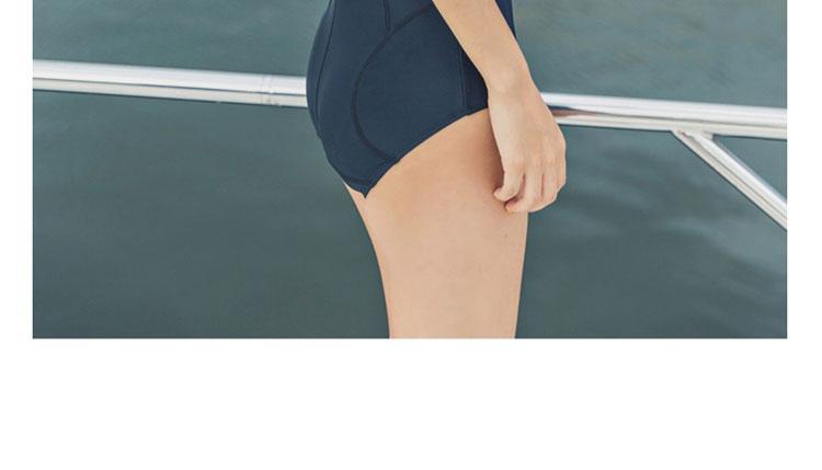 LYSEACIA Black Sexy Women Swimwear One Piece Suits Beach Wear Push Up Swimsuit Zipper New Short Sleeve RASHGUARD Swimming Suit 8