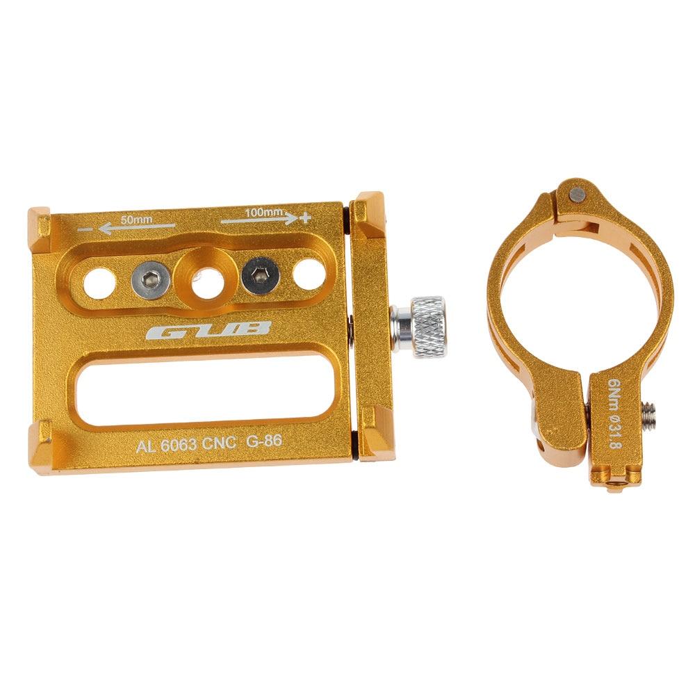 Bike Bicycle Adjustable Handlebar Phone GPS Holder CNC G-86 Aluminum Alloy Black