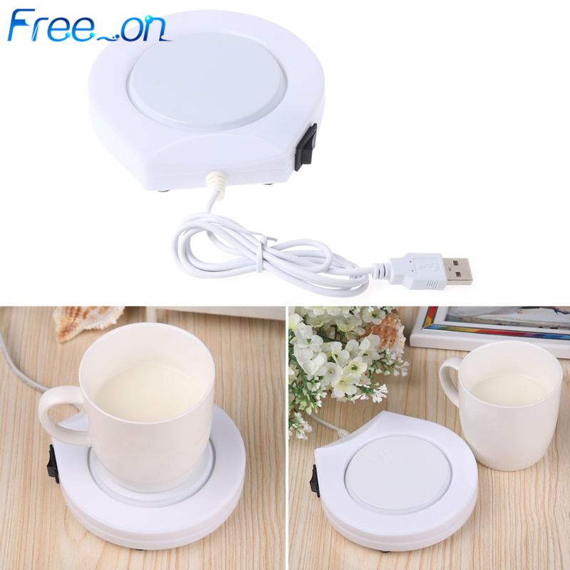 Portable USB Electric Powered Drink Cup Warmer Pad Plate For Office And Home Use