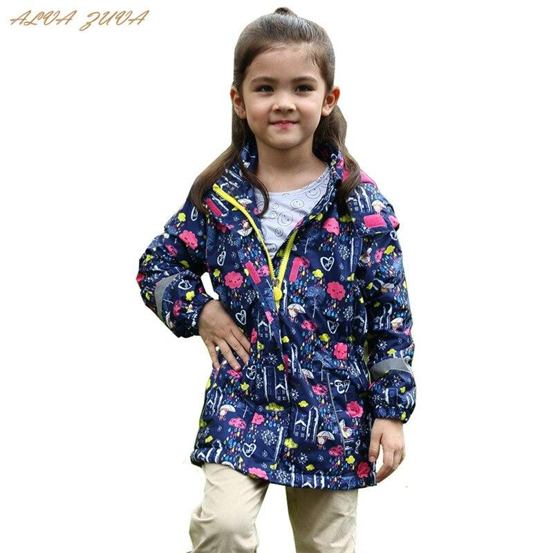 Girls Jackets 2018 Autumn Winter Children Warm Polar Fleece Jackets For Girls Waterproof Windbreaker Kids Outerwear Coat Cyy258
