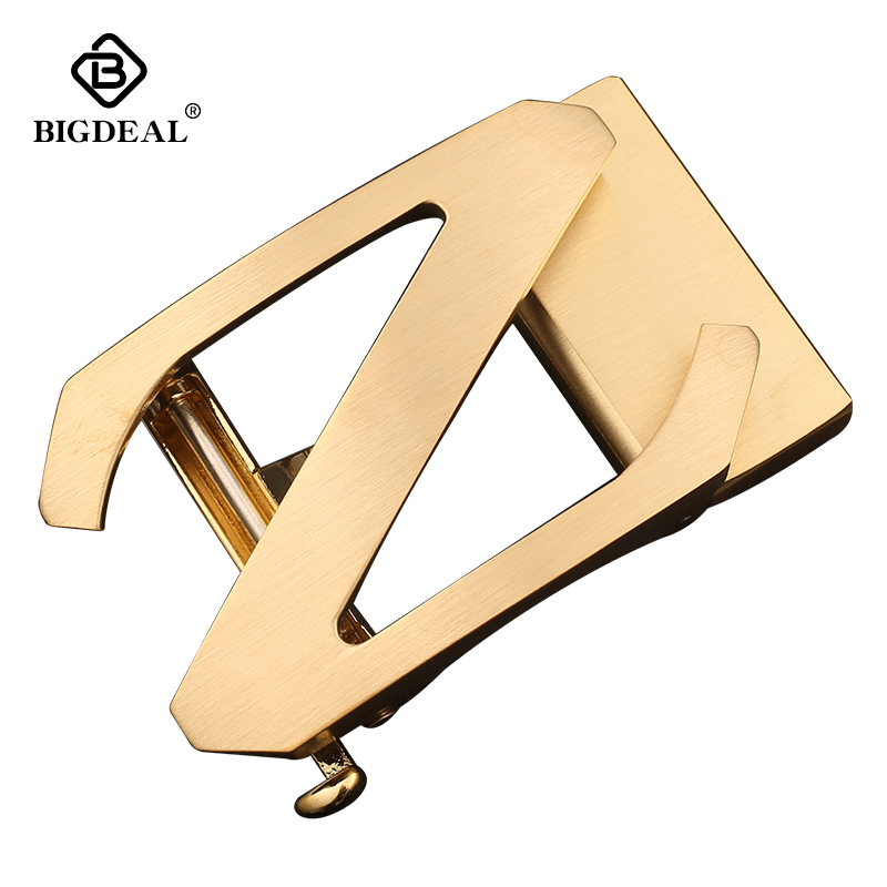 BIGDEAL Solid Brass Simple Z Automatic Belts Buckle For Men Suitable Width 3.5CM Strap