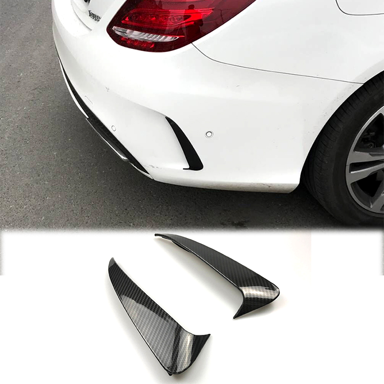 For Mercedes Benz C Class W205 Sedan Sport 4 Doors Rear Bumper Air Vent Cover Fender Stickers Accessories Car Styling bjmycyy stainless steel exhause air filter 2 to 4 cover car accessories for mercedes benz c class sedan w205 c200 c180 2015 2016
