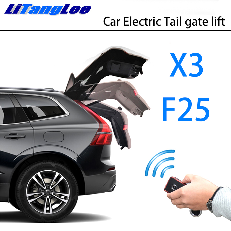 LiTangLee Car Electric Tail Gate Lift Trunk Rear Door Assist System For BMW X3 F25 2011~2017 Original Key Remote Control