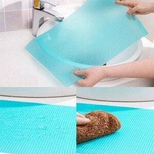 Image 2 - Антибактериальное украшение из 4 предметов, можно разрезать, противообрастающее, противоскользящее, гигроскопическое, плесень, легко моется, коврик для холодильника