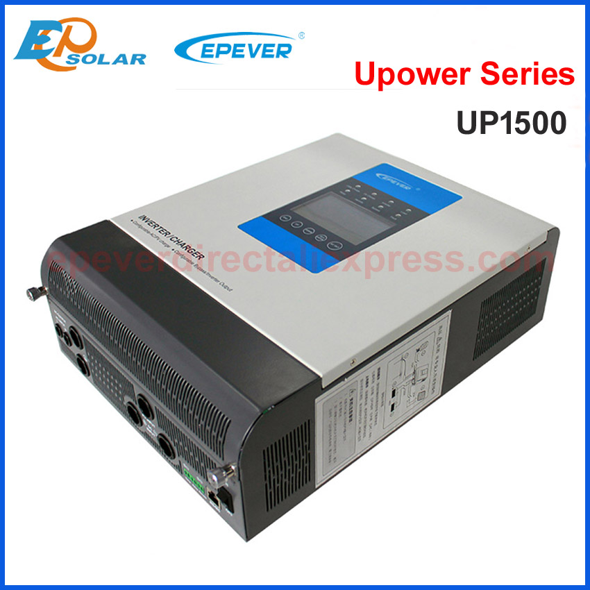 Solar Hybrid Inverter 1500VA Pure Sine Wave Inverter 24Vdc to 220V/230V with 30A 24V MPPT Solar Charger EPEVER UPower series epever power off tie inverter 24v 220v mppt hybrid solar inverter 2000va pure sine wave inverter 30a battery charger