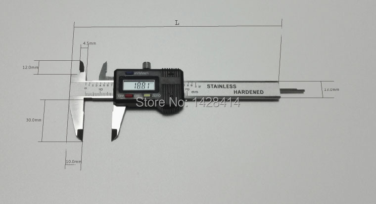 0-80mm /0.01mm Pocket Mini Digital Caliper Pocket Vernier Calipers Mini Digital Caliper Hardened Stainless Steel Vernier Caliper