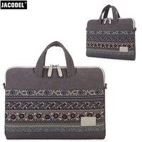 Jacodel 2017 Fashion Canvas 13 14 15 Inch Laptop Handbag Briefcase Shoulder Bag For Men Women