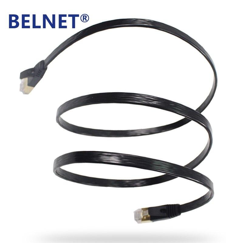 BELNET RJ45 Cat7 Network Patch Ethernet Lan Cord FTP Gigabit Flat - Համակարգչային մալուխներ և միակցիչներ - Լուսանկար 5