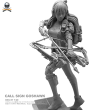 Beautiful Sagittarius Figure  1/20 Resin Soldier With Platform Colorless And Self-assembled Dxc-07