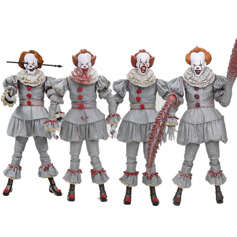 Stephen King é palhaço palhaço Pennywise NECA PVC Action Figure Collectible Modelo Toy kids presentes do Dia Das Bruxas