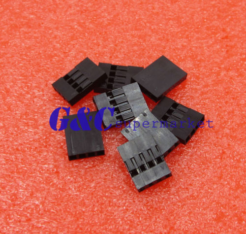 1000pcs 4P Dupont Jumper Wire Cable House Female Pin Connector 2.54mm Pitch