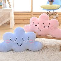 Soft Cloud Shape Plush Stuffed Pillow Nordic Decorative Throw Pillow Kids Room Sofa Bar Shop Chair Pillow Baby Sleep Toys Gift