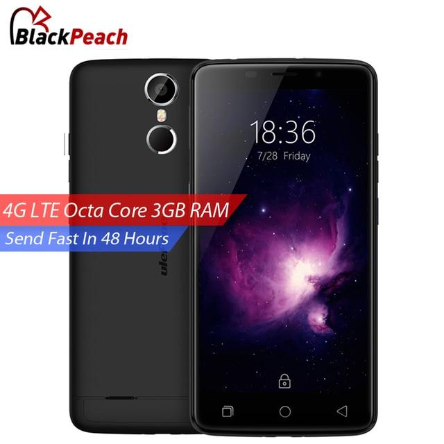 Ulefone Вена 4 Г Мобильный Телефон 5.5 Дюймов FHD MTK6753 Octa Ядро Android 5.1 3 ГБ RAM 32 ГБ ROM 13MP CAM Отпечатков Пальцев ID Смартфон