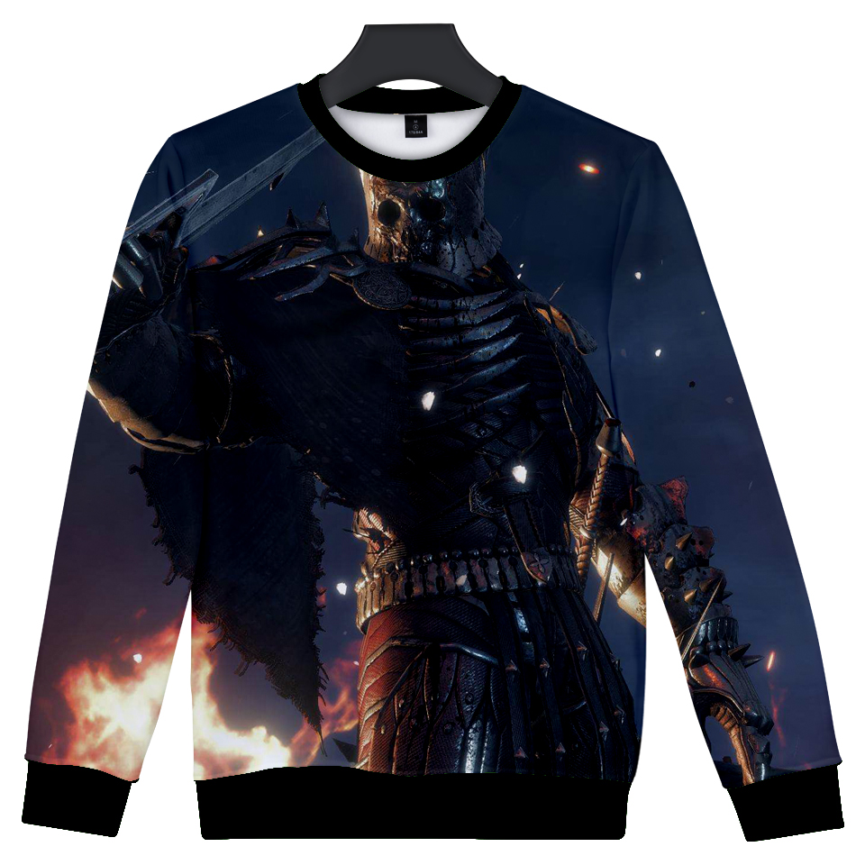 2018 new popular games Witerer3 Wizard 3 clothing 3D printing fashion casual loose long-sleeved mens clothing