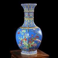 Jingdezhen의 도자기 골동품 도자기 꽃병 테이블 장식 중국어 고전 선반 컬렉션 도자기 선물