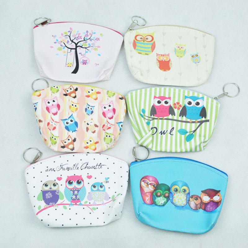 1 pcs Cartoon owl Zero wallet children lady girl boy zipper Wallet women Pocket Pouch Bag Keys coin bag Case kids gifts