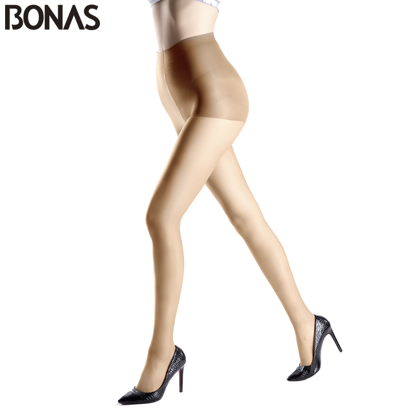 227c729d71e BONAS New Fashion Solid Color Sexy Nylon Stretchy Pantyhose Women s Fashion  Cheap Tights Lady Spandex Resistant Black Stocking-in Tights from Underwear  ...