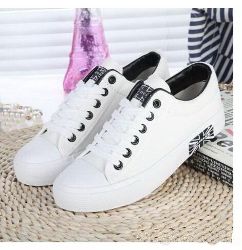 Zapatos de lona de Las Mujeres Atan Para Arriba de Mujer Zapatos Casuales de Primavera y Otoño Suela antideslizante Marca de Moda Caliente de La Venta 171