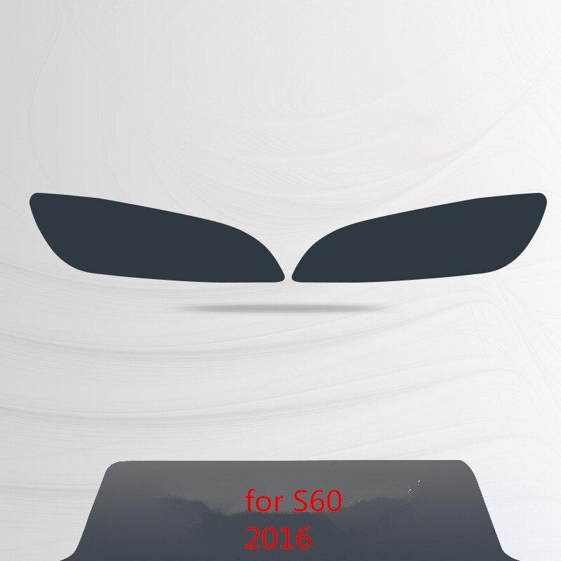 Для Volvo S60 XC90 XC60 V90 аксессуары головной светильник защитная пленка Цвет черный дымчатый матовый светильник головной светильник пленки углеродное волокно автомобильные наклейки - Название цвета: for XC60  2016