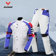 Free shipping 1set Mens Motorcycle Racing Suits Motorcycle Jacket Keep Warming Reflective Clothes with 7pcs pads