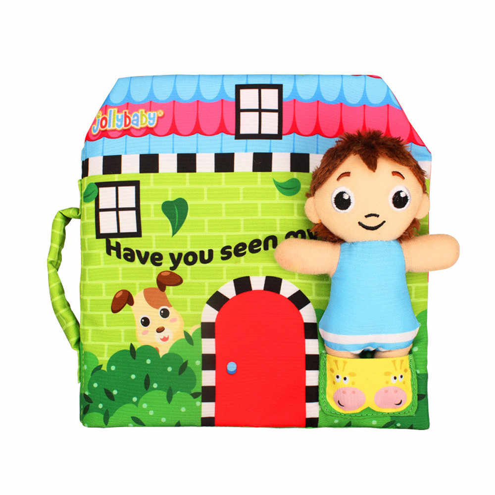 Soft New Cloth Baby Intelligence Development Learn Picture Recognize BB Sound Book Child Interest Training JA24b