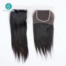 Straight Brazilian Virgin Human Hair Top Lace Closure 4×4 Swiss Lace Size Natural 1B Free Shipping Virgin Hair Products DHL/UPS