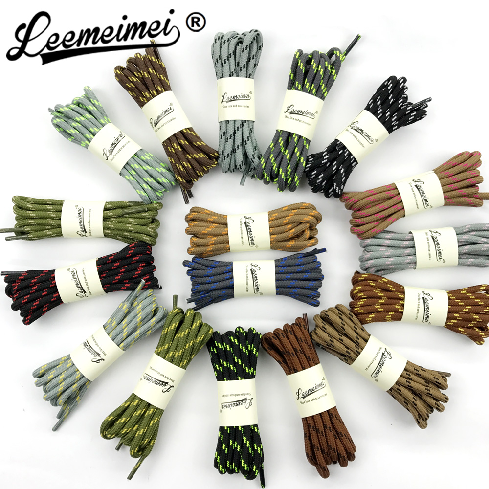 140cm shoelaces multi-color round shoe lace outdoor sport casual hiking slip rope sneakers shoelaces skate boot