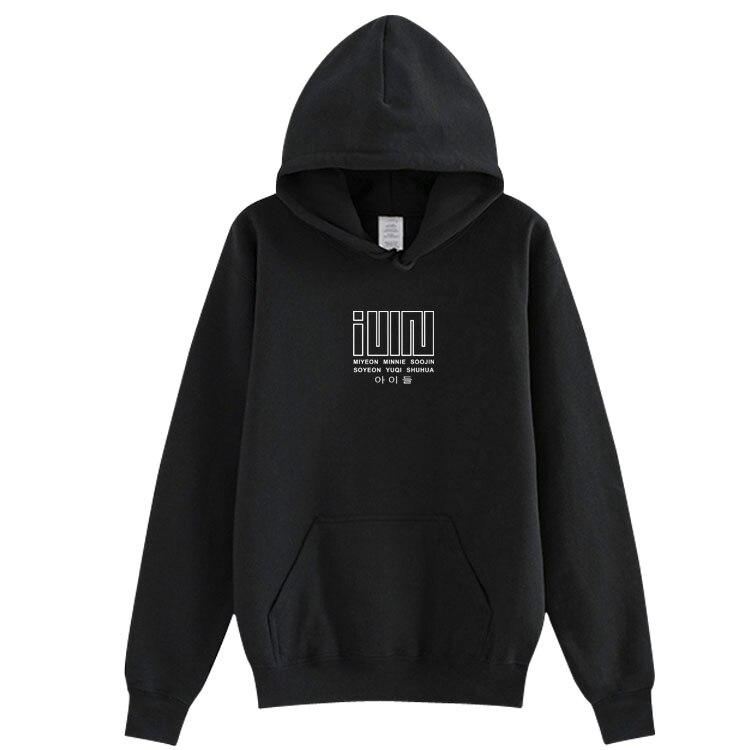 Unisex Kpop (g)i-dle GIDLE Album I Made All Member Name Printing Pullover Hoodies Fleece/thin Loose Fashion Sweatshirt