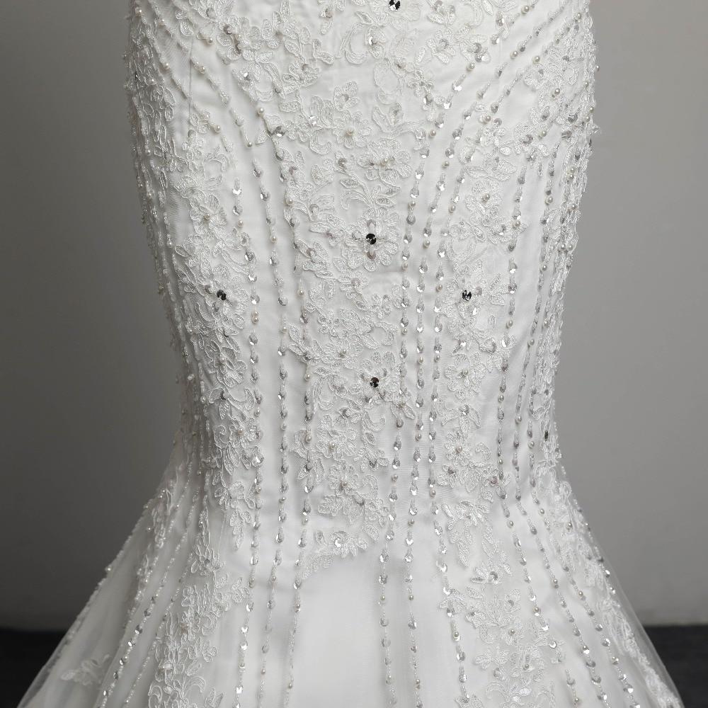 Sexig Stroplös Beading Snörning Vestidos De Novia Off Shoulder - Bröllopsklänningar - Foto 6