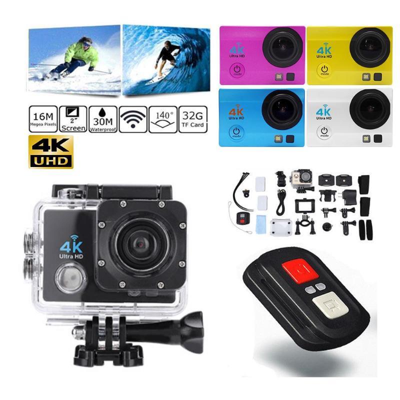 Ação 4 k esportes câmera 2.0 polegada wifi 1080 p ultra hd ação câmera 4 k 30m à prova dwaterproof água 140 graus lente esporte dvr filmadora