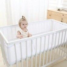 Детский дышащий сетчатый бампер для кроватки, белый