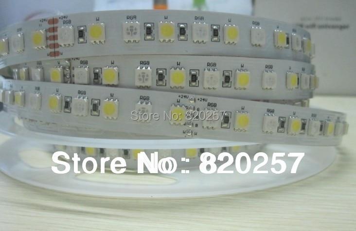 5M DC24V RGBW RGB + жылу ақ 4channel smd 5050 жолағы, 96 - LED Жарықтандыру - фото 5
