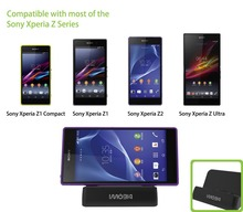 BrankBass Universal Cradle, Docking Station, Desktop Charger, Dock for Sony Xperia series Z2, Z1, Z1 mini, Z Ultra.