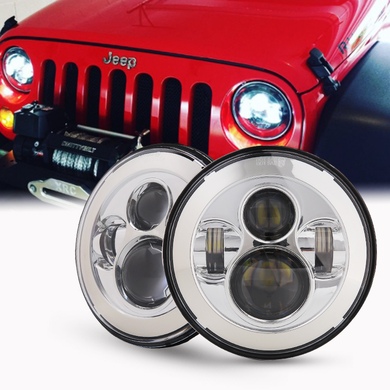 DOT Daymaker Style LED Projection Headlight Kit For Jeep Applications 7 Led Wrangler led headlights for Jeep Wrangler Light multilevel logistic regression applications