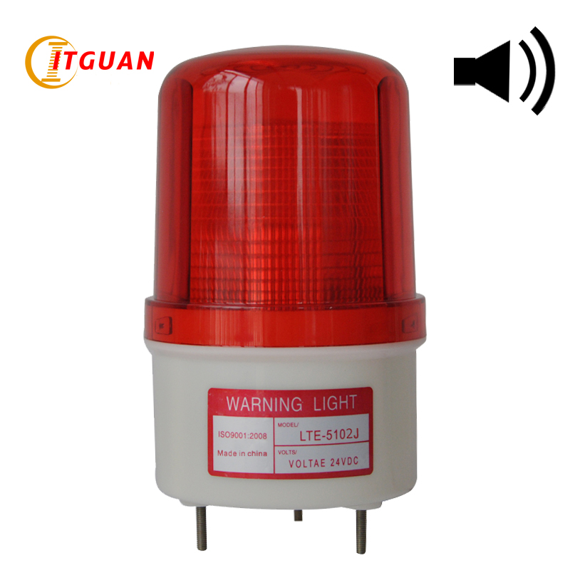LTE-5102J Durable Bright Light Circular Strobe Sound 90dB Warning Light Signal Alarm Lamp Police Strobe Emergency Light 12V 24V lte 5071j led strobe warning light alarm dc12v 24v ac220v signal emergency lamp with buzzer sound 90db beacon light