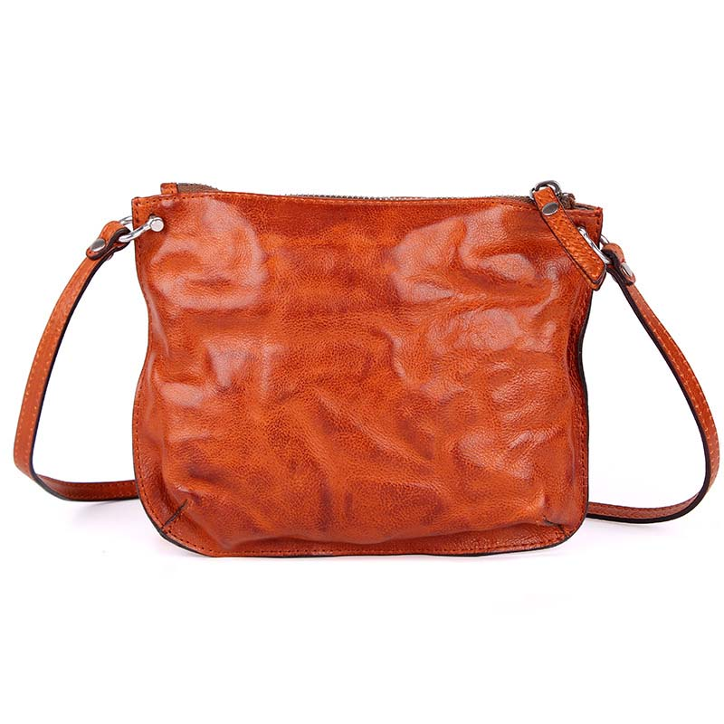 AETOO 2018 retro leisure leather women's bag, kraft leather satchel, small square bag, tanned leather bag girl